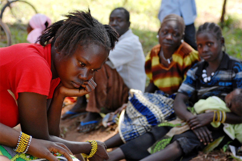 Due to attacks by the Lord's Resistance Army (LRA), a large number of Sudanese civilians from communities in Southern Sudan were internally displaced (September 2009). UN Photo/Tim McKulka