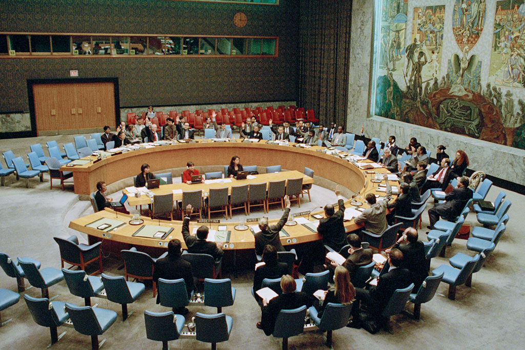 On 31 October 2000, the Security Council unanimously adopted resolution 1325, urging an enhanced role for women in preventing conflict, promoting peace and assisting in post-conflict reconstruction. UN Photo/Milton Grant