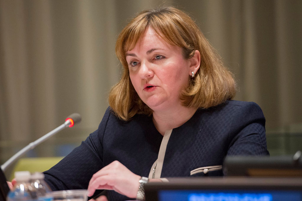 Natalia Gherman, first Deputy Prime Minister and Minister of Foreign Affairs of Moldova. UN Photo/Rick Bajornas