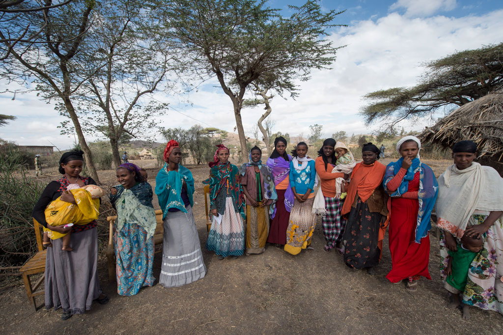 Women of the Ziway Dugda woreda, Oromia Region in Ethiopia during Secretary-General Ban Ki-moon's January 2016 visit to the drought-affected area. UN Photo/Eskinder Debebe