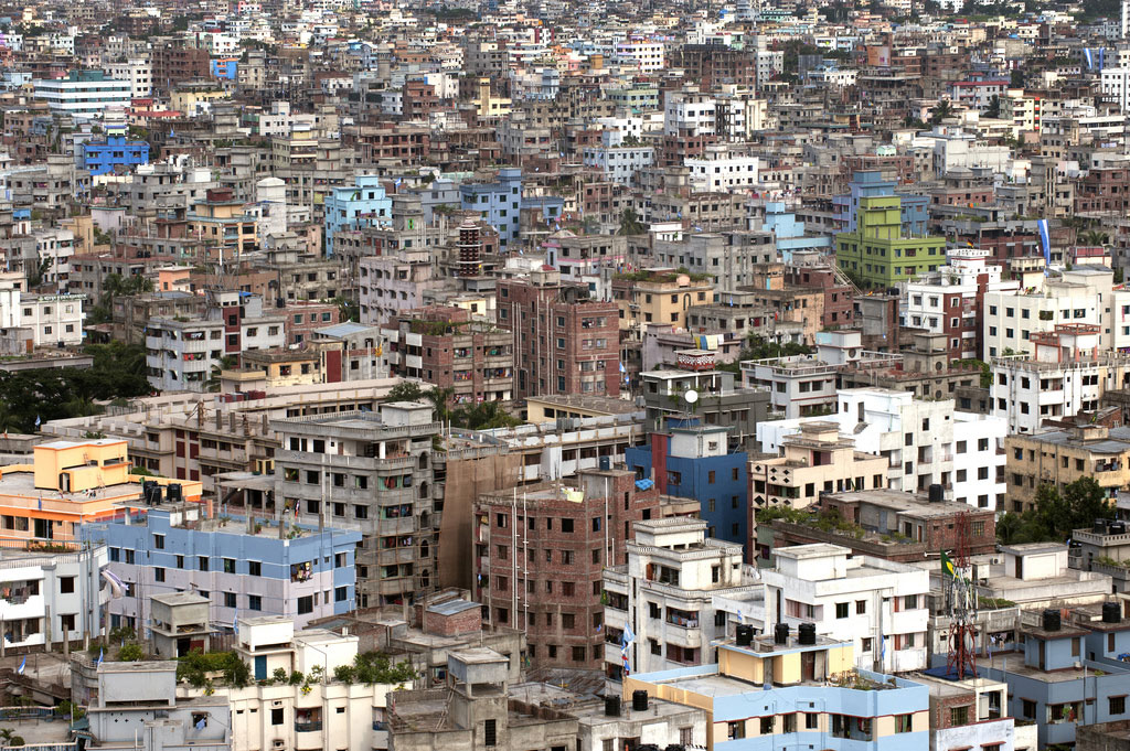 A city view of Dhaka, Bangladesh. The Asia-Pacific region is urbanizing rapidly. While for the world as a whole the urban population growth rate is 2.0%, in Asia and the Pacific it is 2.3%. UN Photo/Kibae Park