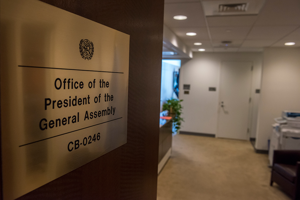 The Office of the President of the General Assembly.  UN Photo/Cia Pak