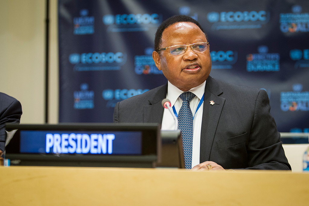 The Economic and Social Council (ECOSOC) held its organizational session for the period of July 2016 to July 2017, and elected the new members of its Bureau. Frederick Musiiwa Makamure Shava, Permanent Representative of the Republic of Zimbabwe to the UN and President-elect of ECOSOC, during the meeting. UN Photo/Manuel Elias