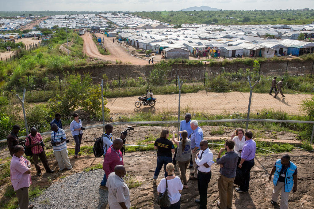 In South Sudan, in July 2015, USG O'Brien saw first-hand the devastating humanitarian consequences of the conflict as well as efforts by aid organizations to respond to escalating needs. UN Photo/JC McIlwaine