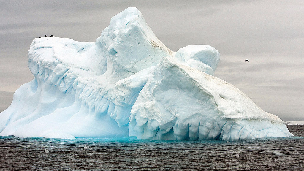 View of the melting Collins Glacier off King George Island, Antarctica, in November 2007. UN Photo/Eskinder Debebe