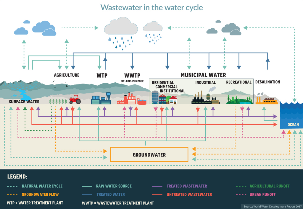 Wastewater in the water cycle