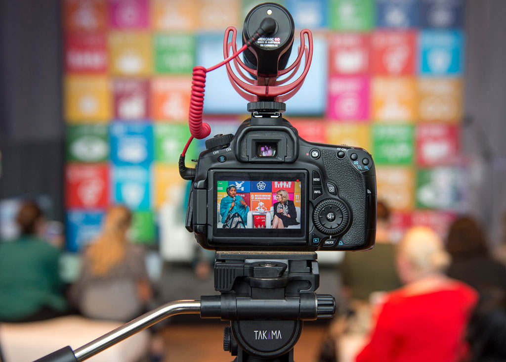 The SDG Media Zone at UN Headquarters served as a platform for editors, bloggers, content creators and influencers to discuss ways to engage on the Sustainable Development Goals, which commit governments to end poverty, reduce inequalities and protect the planet by 2030. Among the participants were Deputy Secretary-General Amina Mohammed (left) and Alison Smale, Under-Secretary-General for Global Communications. UN Photo/Cia Pak