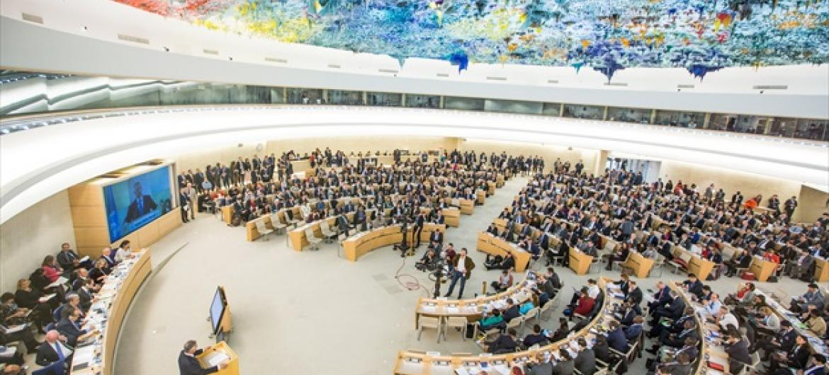 A wide view of the Human Rights Council.