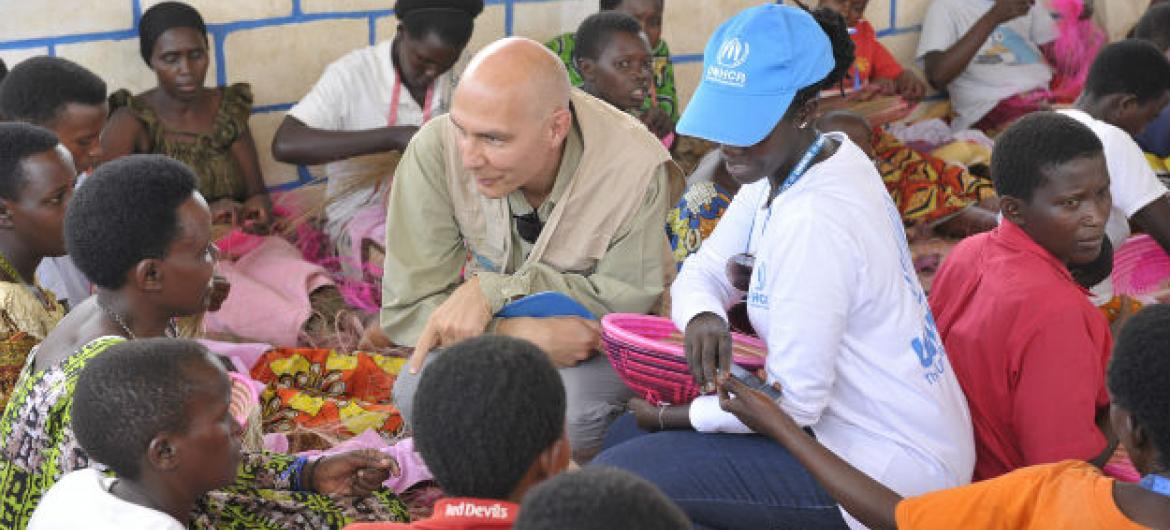 Volker Türk, Assistant High Commissioner for Protection visits Mahama refugee camp, in Rwanda.