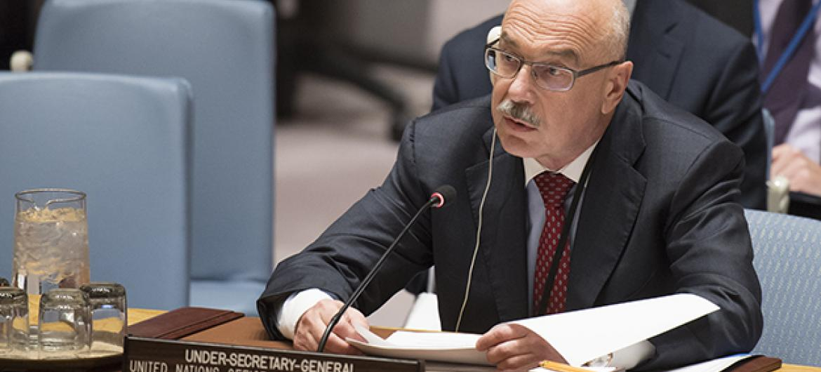 Vladimir Voronkov, Under-Secretary-General of the United Nations Counter-Terrorism Office, addresses the Security Council meeting on threats to international peace and security caused by terrorist acts and foreign terrorist fighters.