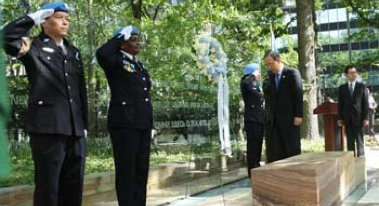 Wreath-Laying Ceremony in honour of all fallen United Nations peacekeepers.
