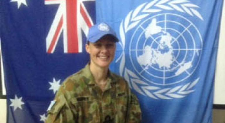 Australian female peacekeeper inspired by father