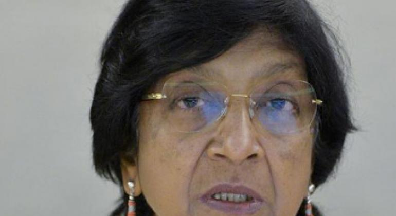 Navi Pillay, United Nations High Commissioner for Human Rights.