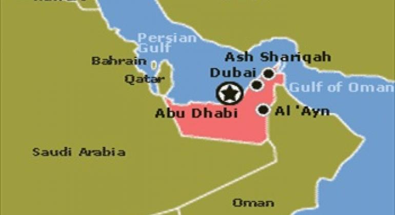 United Arab Emirates map. United Nations Statistics Division
