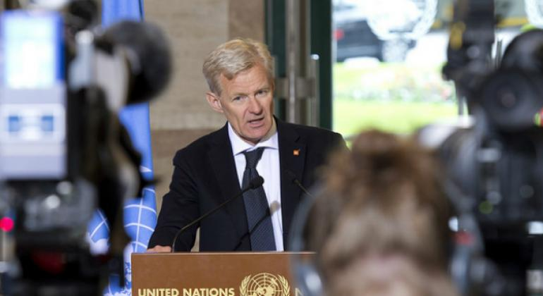"""UN Special Adviser Jan Egeland expressed concern for Syrian civilians facing their """"fifth cruel winter"""" amid ongoing fighting."""
