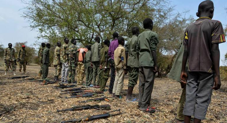 Child soldiers released in South Sudan.