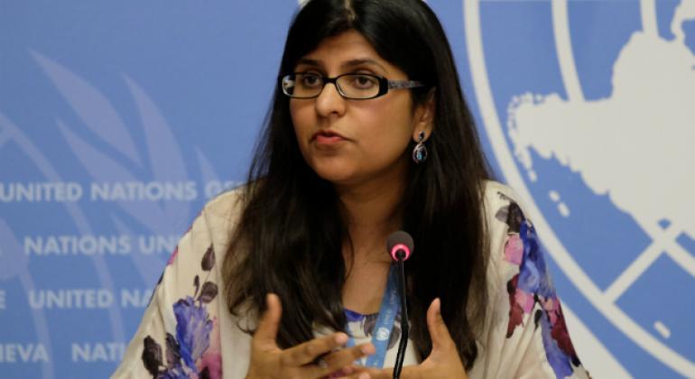 UN Human Rights Office spokesperson Ravina Shamdasani.