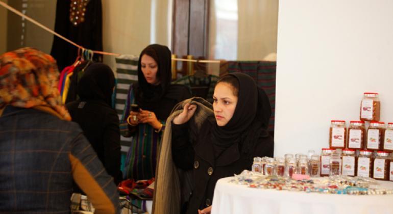 Businesswomen in Kabul. Photo