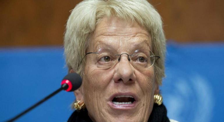 Carla Del Ponte, who is standing down from the UN Commission of Inquiry on Syria after more than five years.