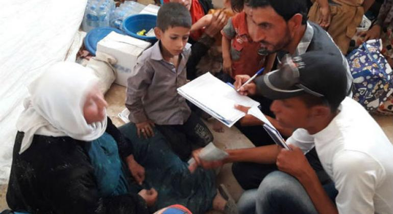 UN International Organization for Migration (IOM) emergency teams respond to thousands of civilians fleeing Tal Afar since the launch of the military campaign to retake the city from ISIL on 20 August.