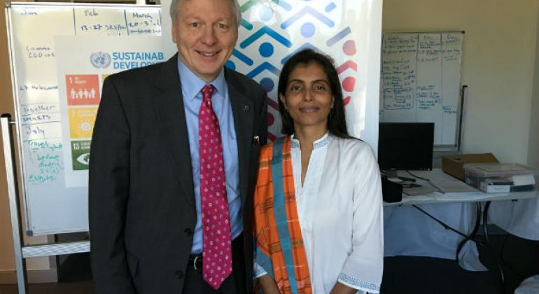 UNIC Canberra Director and UNESCO Pacific Representative Ms Nisha.