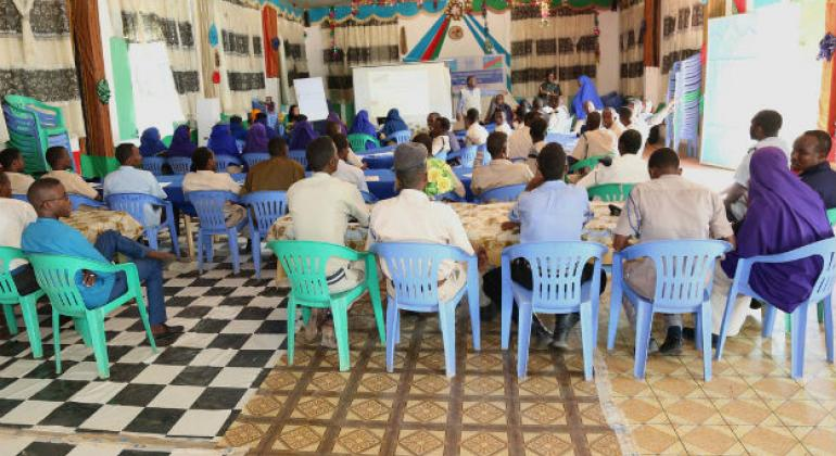 UNSOM training on sexual and gender-based violence for South West State police officers.