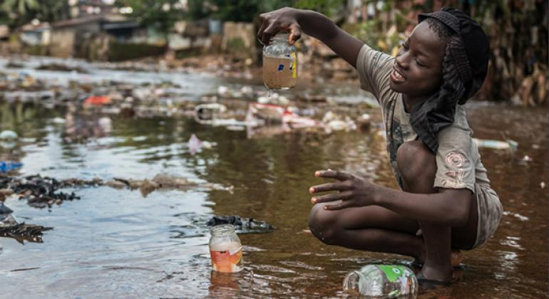 """Cover photo from the Global Task Force on Cholera control (GTFCC) report """"Ending Cholera - A Global Roadmap to 2030."""""""