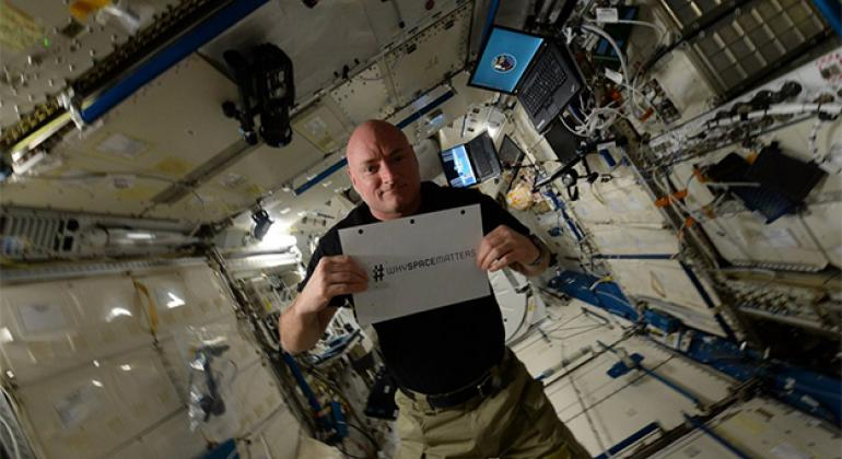 UN Office for Outer Space Affairs (UNOOSA) and astronaut Scott Kelly launching #whyspacematters photo contest.