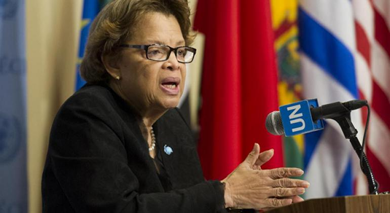 Sandra Honoré, The Special Representative of the Secretary General and chief of MINUSTAH.