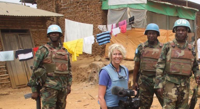 Melonie Kastman with Malawian Peacekeepers in the Democratic Republic of Congo.