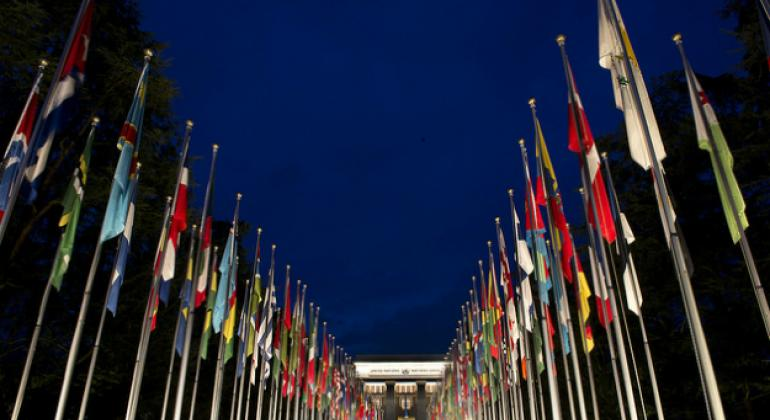 The United Nations Office at Geneva, where multilateral discussions on biological weapons have been taking place.