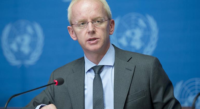 Adrian Edwards, Spokesperson of UNHCR during a press briefing in Geneva. (file)