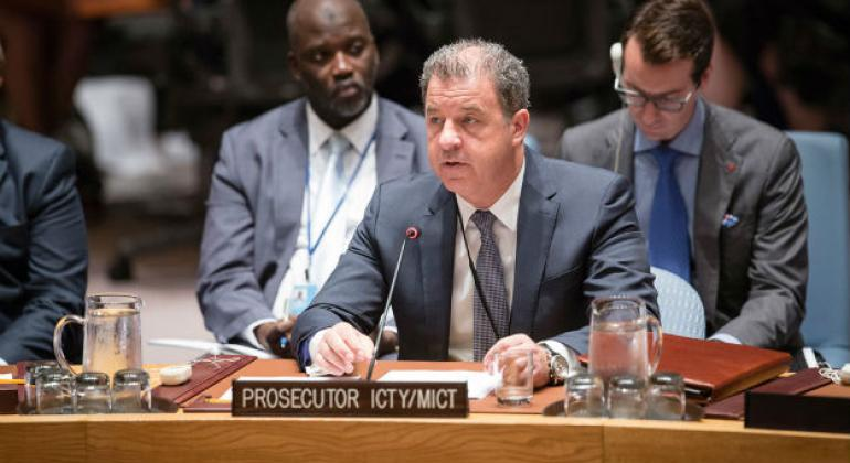 Serge Brammertz, Prosecutor of the International Criminal Tribunal for the Former Yugoslavia (ICTY) and Prosecutor of the International Residual Mechanism for Criminal Tribunals (MICT), briefs the Security Council in 2016.