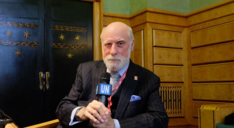 """Dr. Vinton Cerf, Chief Internet Evangelist at Google and one of the """"founding fathers"""" of the Internet."""