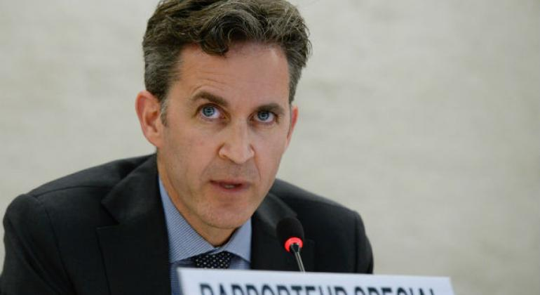 David Kaye, Special Rapporteur on the promotion and protection of the right to freedom of opinion and expression. (file)