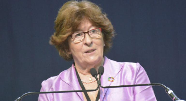UN Secretary-General's Special Representative for International Migration, Louise Arbour. (file)