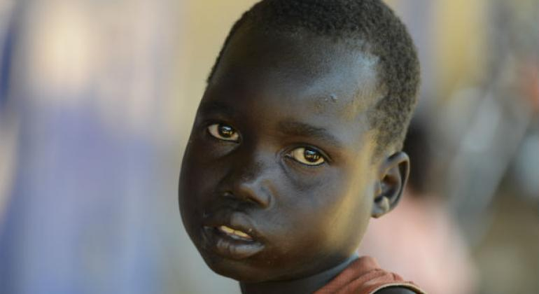 Wol, a 6-year-old child in Aweil, South Sudan.