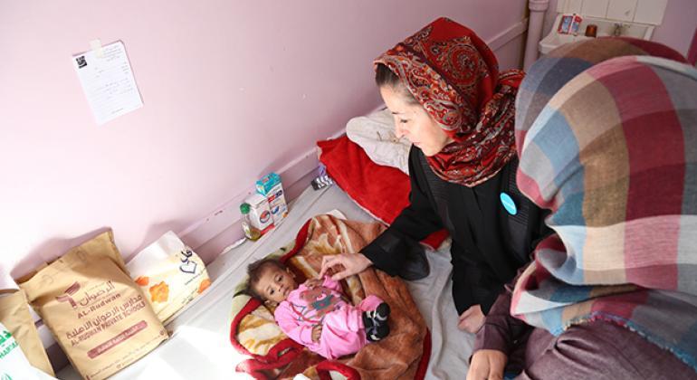 at Al-Sabeen Hospital, in Sana'a, Yemen. ©UNICEF/UN050319/Farid