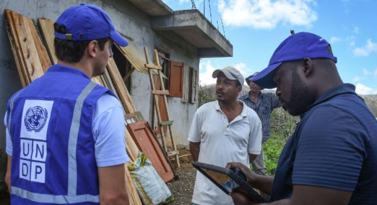 UNDP conducts building damage assessment in Concord and Marigot, Dominica, following category 5 Hurricane Maria.