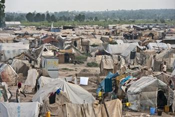A view of the camp for internally displaced persons (IDPs) at M'poko Airport in Bangui, capital of the Central African Republic.