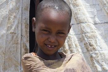 A young Somali refugee.