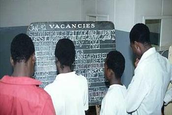 Job seekers in Zimbabwe. ILO Photo/Maillard J.