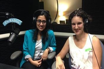 Lena Shareef and Olivia Curl (UN Radio@PHOTO)