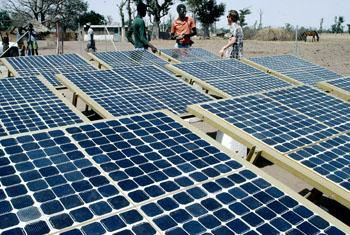 Solar volatic panels in Thies, Senegal.