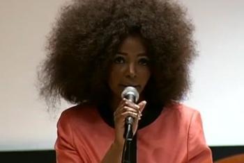 Simphiwe Dana. (UNTV video capture)