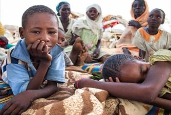 Civilians in Darfur.