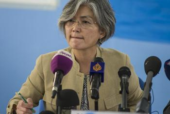 Kyung-wha Kang, UN Assistant Secretary-General for Humanitarian Affairs during her visit to South Sudan.