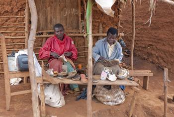 Shoemakers in Burundi.