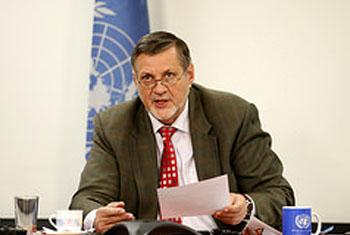 Ján Kubiš, Special Representative of the Secretary-General and Head of the UN Mission in Afghanistan (UNAMA).