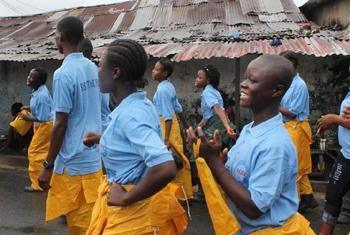 In Liberia, adolescent girls trained by UNICEF and partners are part of Adolescents Leading the Intensive Fight against Ebola, or A-LIFE.